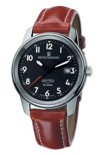 Revue Thommen Men's Automatic Watch AIRSPEED XL 16052.2537 SL with Leather Strap