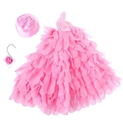 Cuigu Neue Barbie Hochzeitskleid, Puppe Abendkleid Puppenkleidung mit Rosa Romantische...