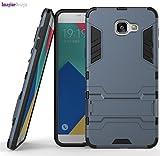 WOW Imagine(TM) Premium Military Grade Protection AirArmour Super Slim Dual Layer Tough Hard Back Case Cover for Samsung Galaxy C9/C9 Pro - Metallic Blue