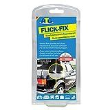 ATG CFR02 Flick Fix Kunststoff-Verdeck Teichfolien Pool Reparaturset, schwarz für Cabrioverdeck und...