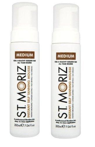 St Moriz Lot de 2 mousses auto-bronzantes Medium 200 ml