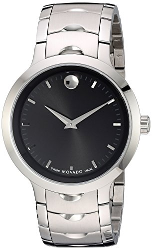 Movado Mens Analog Swiss-Quartz Watch with Stainless-Steel Strap 0607041