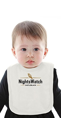 Nights Watch Castleblack Funny Slogan Organic Baby Bib With Ties Medium