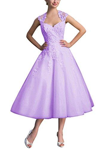 Find Dress Elégant Robe Vintage d'Audrey Hepburn Année 50s Rockabilly Swing pour fête Noel Noble Robe de Gala Soirée Grande Taille pour Femme Ronde Dentelle Qualité Lavande