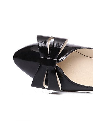 WSS 2016 Chaussures Femme-Bureau & Travail / Habillé / Décontracté-Noir / Rouge-Gros Talon-Talons / Escarpin Basique / Bout Pointu-Talons-Cuir red-us6 / eu36 / uk4 / cn36