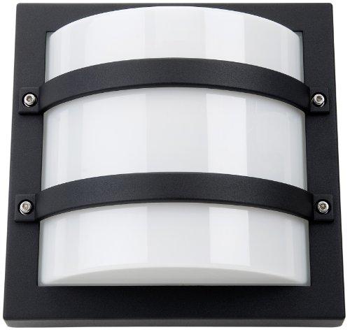 SG-Leuchten Außen-Wandleuchte Largo E27 CFL, schwarz/opal 614560 -