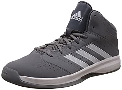 adidas Men's Isolation 2 Grey, White and Grey Basketball Shoes - 12 UK