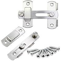 Hseamall 2 UNIDS de acero inoxidable puerta de cierre del tirón cierres de la barra de la cerradura de la puerta de seguridad para la ventana de la puerta muebles de hardware