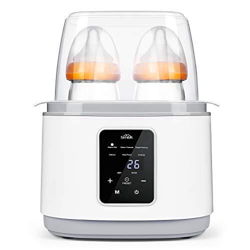 SIMBR Flaschenwärmer Babykostwärmer 6-in-1-Multifunktions Sterilisator für Babyflaschen 270W Konstante Temperatur Erwärmen für nachts, Muttermilch, Milchpulver, Säuglingsnahrung Warmhaltung weiß