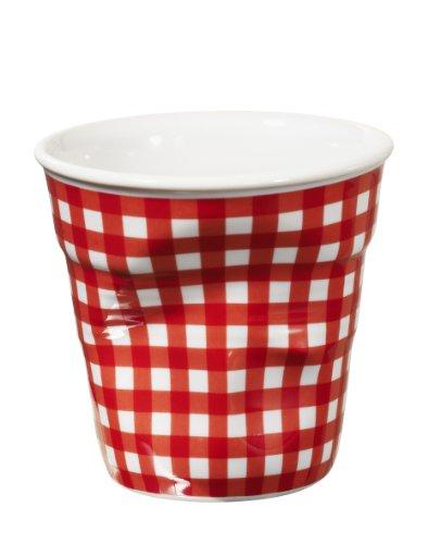 REVOL Gobelet Tasse Froissé 8 Cl Blanc Vichy Rouge