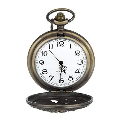 Armbanduhr jungen Liusdh Uhren Retro personalisierte Gravur Punk Vintage Quarz römischen Ziffern Taschenuhr uhr(B,B)