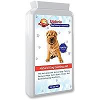 Uploria Pet World Comprimidos Calmantes para Perros 120 Comprimidos con Sabor A Pollo Relajante De Acción Rápida & Alivio De La Ansiedad para Perros Ansiosos