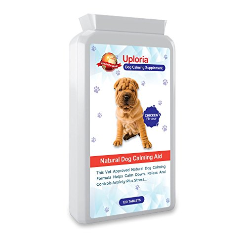 Beruhigende Tabletten für Hunde | 120 Tabletten mit Huhngeschmack | Schnell wirkendes Beruhigungsmittel, hilft bei ängstlichen Hunden | Diese angstlösenden Tabletten entspannen und beruhigen Hunde auf Natürliche Weise (Angst Hundefutter)
