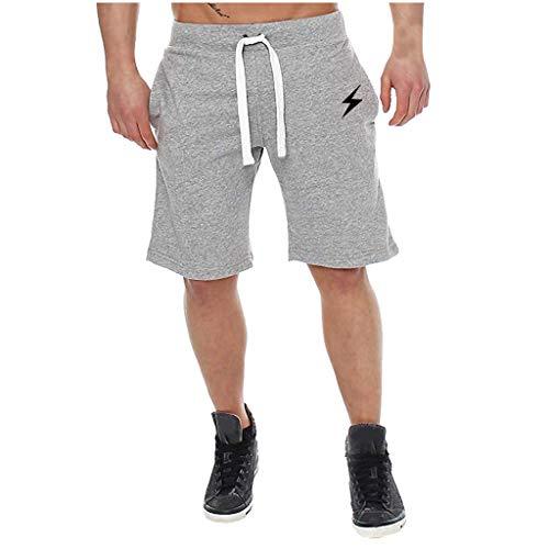 Binggong Herren Kurze Hose für Sommer Slim Fit | Männer Shorts Hose Jogginghose | Freizeit Sport Fitness Trainingsshorts Cargo Bermuda| ClassicsSweatshortsmit Kordel -