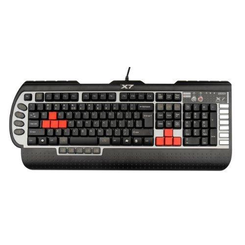 A4TECH X7-G800V Programmierbare Gaming-Tastatur schwarz/silber (A4tech Usb-tastatur)