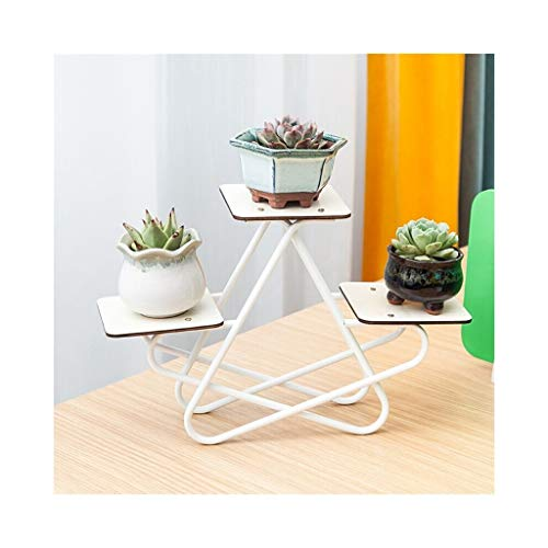 Blumenständer Desktop, mehrschichtige Kreative Innen Massivholz Blumentopf Rack, Geeignet Für Schreibtisch, Wohnzimmer, Schlafzimmer, etc. (Color : B) -