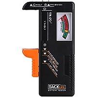 Tacklife MBT01 Batterietester Akkutester Batterieprüfergerät für AAA, AA, C, D, 1.5V, 9V und Andere Batterie Typen Ideal für Hausgebrauch