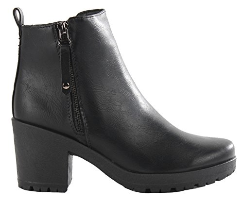 style-2-black-leather-size-5-new-ladies-block-chunky-mid-high-heel-ankle-boots-womens-low-platform-c