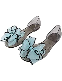 Warlock Sky Bow Transparent Slippers For Women|Womens Footwear|Womens Slippers| Light Weight |Girls