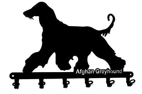 Schlüsselbrett / Hakenleiste * Afghan Greyhound * - Windhund - Schlüsselleiste - 6 Haken