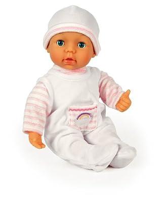 Muñeca de funciones i Baby con ojos móviles y accesorios, 30 sonidos de bebé, 38 cm de Bayer Design