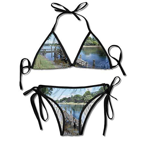 Swimsuit Underwire Two Piece Hamilton City New Zealand Holiday Printing Bikini Hamilton Beach Nylon