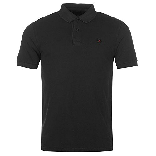 Button Down Cotton Polo Shirt (Replay Pique Mens Polo Shirt With Patches M3350S.000.21868 Black XL)