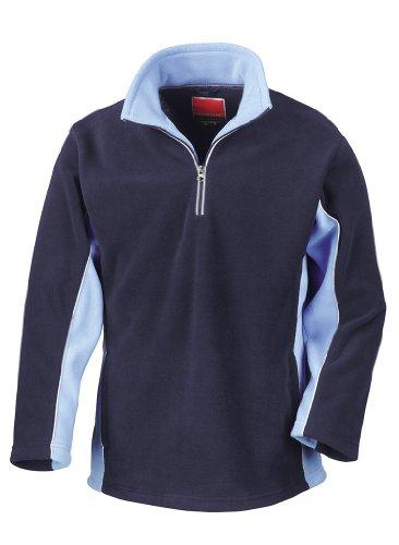 Tech3 Fleece-Sportsweatshirt mit 1/4 Reißverschluss Navy/Sky