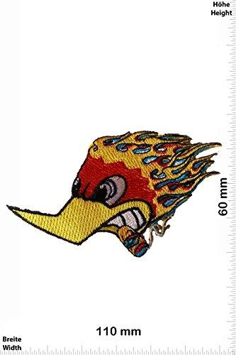 Patch - Woddy Fire Smoke - Cool Brands Patch - Streetwear - Vintage - Patches - Aufnäher Embleme Bügelbild Aufbügler