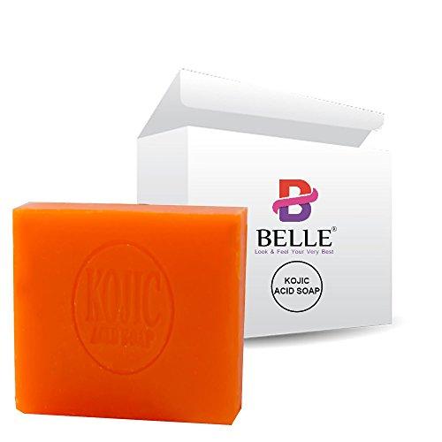 Belle Skin Bleaching Helling Kojic Acid SOAP-65 g entfernt dunkle Flecken, Sommersprossen und Akne, Stretch-Marken, unebene Hautfarbe und andere Haut Tone Störungen