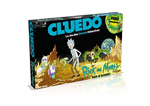 Winning Moves - Cluedo Rick y Morty, 0266, Version Francesa