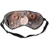 Schlafmaske für Weihnachten, Neujahr, Cookies, Kakao, Zimt, Unisex Augenmaske preisvergleich bei billige-tabletten.eu