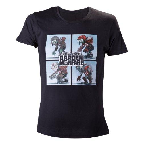 Plants vs Zombies Zombie Team T-Shirt -M- Schwarz (Garden Pflanzen Warfare Vs Zombies)