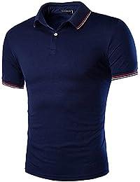 YCHENG Homme Manche Courte Mode Polo Sport Casuel Poloshirt T-Shirt