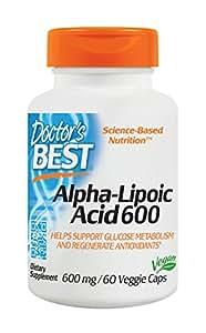 Doctor's Best, Best Alpha-Lipoic Acid (Alpha-Liponsäure), 600mg, 60 Veg. Kapseln