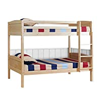 mecor 3FT Solid Pine Wood Double Single Bunk Beds Frame Splits Into 2 Single Beds for Kids Childrens Adults