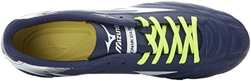 Mizuno Monarcida Neo Md, Chaussures de Football Homme Blu (Blue Depths/White/Safety Yellow)