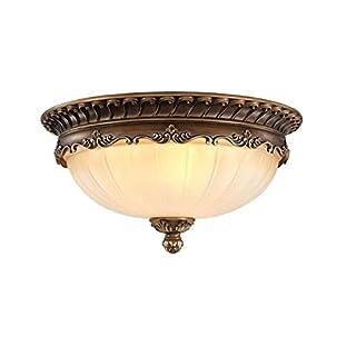 KJLARS Retro Rund Deckenlampe Wohnzimmer Deckenleuchte Küche Deckenbeleuchtung Schlafzimmer Vintage Leuchtmittel