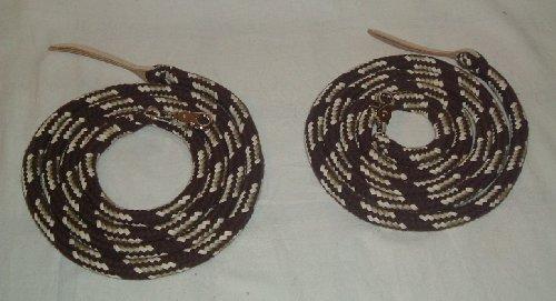 Westernzügel Split Reins, extra schwer, geteilt je 2,20 mtr braun/caramell/natur