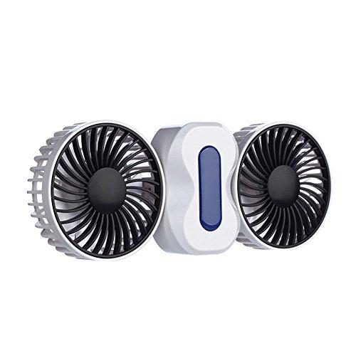 Hrph Portable 2 Motoren Sommer Paare Klimaanlage Ventilator Wiederaufladbare Li Batterie Ventilator Mini USB Fan - Klimaanlage Ventilator Motor
