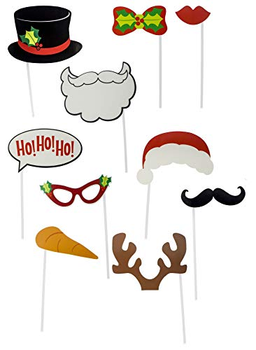 LOLO 4 PC Set Bunte Weihnachten Santa Rentier Elf Kostüm Themed Party Photo Booth Selfie Requisiten Dekoration