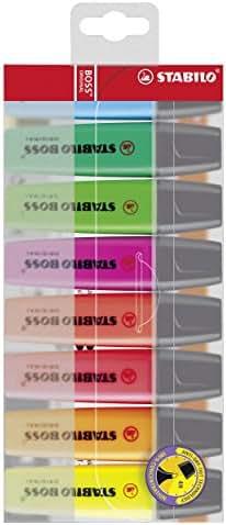 STABILO BOSS ORIGINAL - Pochette de 8 surligneurs - Coloris assortis