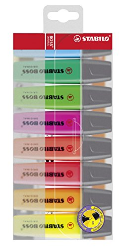 STABILO BOSS Original Highlighter - Assorted Colours, Wallet of 8 Test