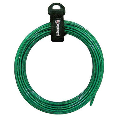 WELLINGTON CORDAGE LLC - 5/32-Inch x 50-Ft. Vinyl-Coated Wire Cable Clothesline -