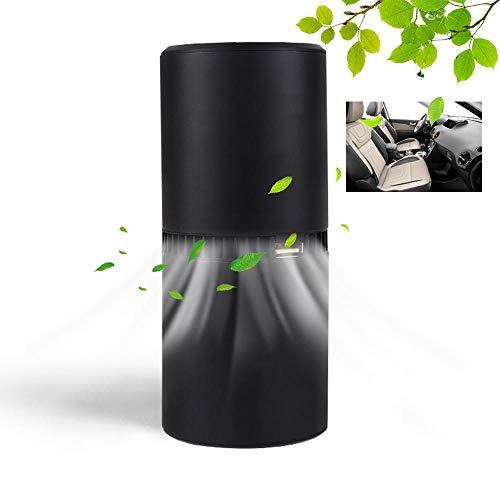 Lesgos Purificatore d'Aria per ionizzatore per Auto, Lo ionizzatore Portatile per deodoranti per Auto rimuove Polvere/polline/Fumo/Cattivi odori/batteri