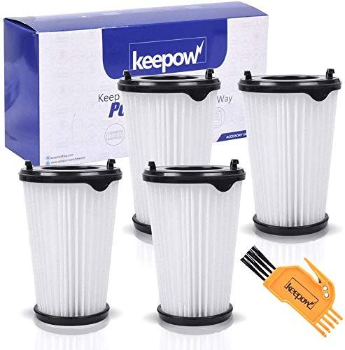 4 Filtros para Aspiradora Ergorapido AEG CX7 CX7-2 para todos los modelos, Pack Familiar de KEEPOW