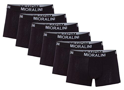 Sparpack! 12, 10 oder 6 weiche & elastische Herren Retroshorts Retropants Boxershorts in klassischen Farben aus Baumwolle mit Elastan S M L XL 2XL 3XL (XXXL-9, 6 Shorts Schwarz)