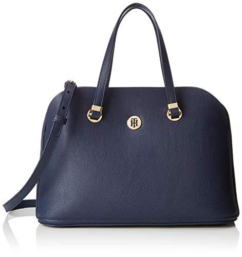Tommy Hilfiger Damen Th Core Satchel Umhängetasche, Blau (Corporate) 15x23.5x34 cm (Damen Handtasche Hilfiger Tommy)