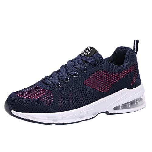 DIKHBJWQ Mode Paar Sneakers Outdoor Laufschuhe Sommer Turnschuhe Atmungsaktiv Sandalen Mesh Freizeitschuhe Casual Pumps Runing Sportschuhe für Frauen und Herren (Lacrosse Schmuck)