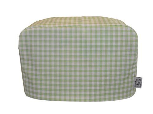 cozycoverup® Staub Cover für Toaster in Grün Gingham (Dualit New Gen Classic 4Slice) (Dualit Toaster 4 Slice)